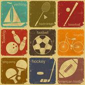 étiquettes rétro sport — Vecteur