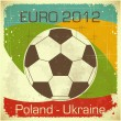 Euro 2012 football card — Stock Vector