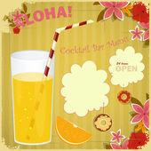 Design Menu card for Cocktail Bar — Stock Vector