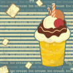 Ice Cream - vintage poster — Stock Vector