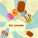Ice Cream - vintage poster — Stock Vector #8141360