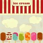 Ice Cream - vintage poster — Stock Vector #8141408