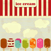 Ice Cream - vintage poster — Stock Vector