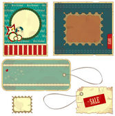Labels in vintage style — Stock Vector