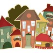 Stock Vector: Retro houses