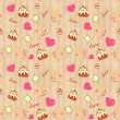 Seamless background for Valentine — Imagen vectorial