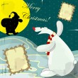 Polar bear and santa claus — Image vectorielle