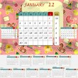 Monthly calendar 2012 - all months in the set — Stock Vector #8192066
