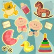 Baby card — Stock Vector #8194808