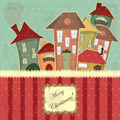 Christmas card in vintage style — Stock Vector