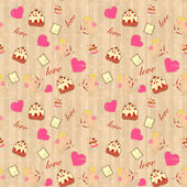 Seamless background for Valentine — Stockvector