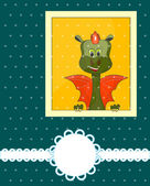 Greeting Card 2012 with dragon — Stock Vector