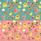 Baby seamless — Stock Vector