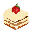Strawberry cake — Stock Vector