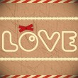 Love - card for Valentine — Vector de stock