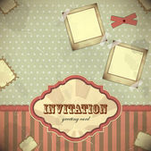 Vintage card with place for text - scrapbook style — Stock Vector