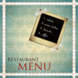Restaurant menu design in vintage style — Imagen vectorial