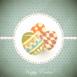 Easter Eggs -  old postcard in vintage style — Imagen vectorial