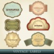 Stock Vector: Vintage labels set