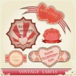 Vintage love labels set — Stock Vector