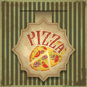 Pizza label — Stock Vector