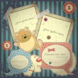 Royalty-Free Stock Imagem Vetorial: Scrapbook vintage design elements