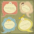 Vintage labels set with - Stock Vector