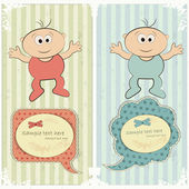 Baby postcard in vintage style — Stock Vector