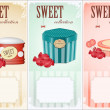 Stock Vector: Sweet collection - price labels with place for text