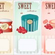 Sweet collection - price labels with place for text — Stock Vector