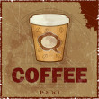 Grunge Cover for Coffee Menu — Stock Vector #9322994
