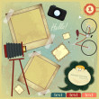 Royalty-Free Stock Vector Image: Vintage card - scrapbook elements on grunge background