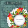 Royalty-Free Stock Vector Image: Vintage Cover Dessert Menu
