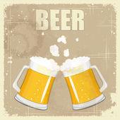 Vintage postcard, cover menu - Beer — Stock Vector
