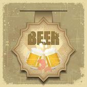 Vintage postcard, cover menu - Beer, beer snack — Stock Vector