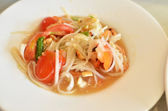 Thai papaya salad hot and spicy — Stock Photo