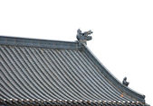 Dragon sculpture on roof — Stock Photo
