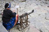 Chinese ethnic minority women in the spinning — Stock Photo