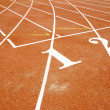 Stock Photo: Athletics track