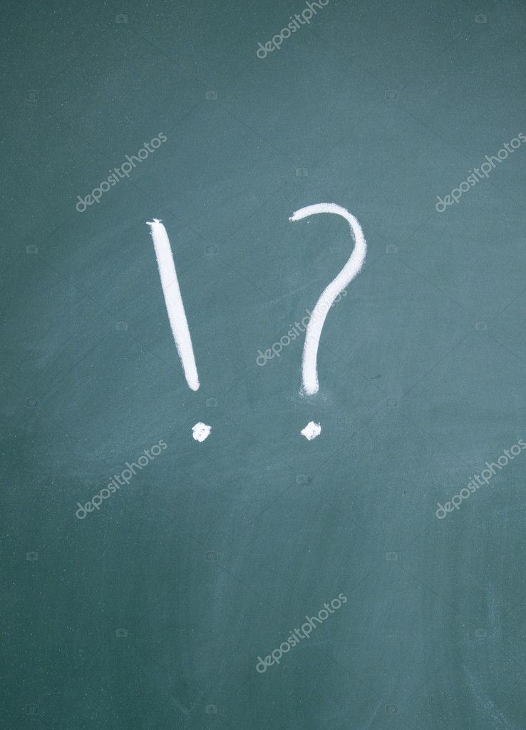 Exclamation and question marks — Stock Photo #8965574