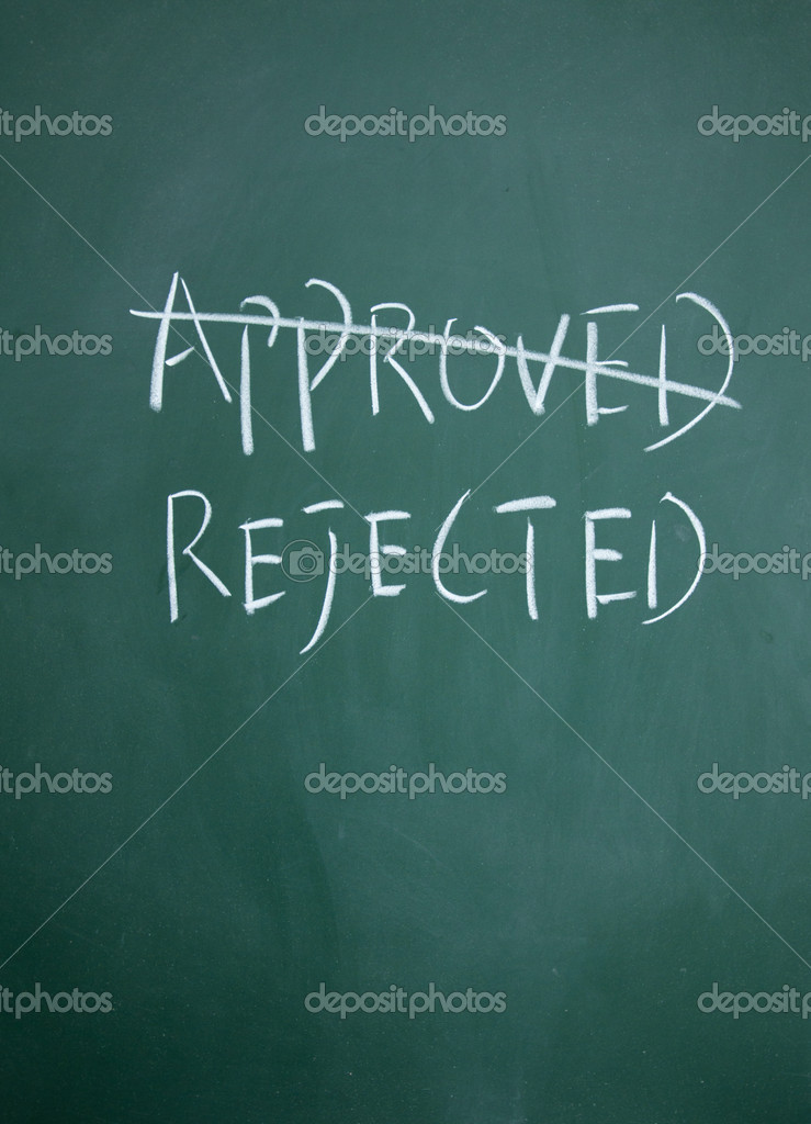 Approved and rejected choice — Stock Photo #8967127