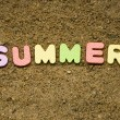 Stock Photo: Summer sign