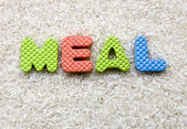 Meal sign — Stock Photo