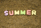 Summer sign — Stock Photo