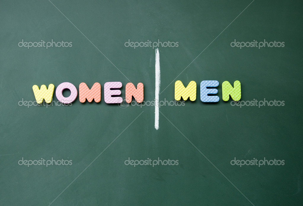 Women and men sign — Stock Photo #9637790