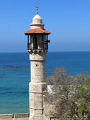 Jaffa minaret of Al-Bahr Mosque 2012 — Stock Photo