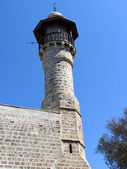 Jaffa minaret of Al-Bahr Mosque March 2012 — Stock Photo