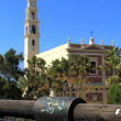 Jaffa Scorpio zodiacal sign and St Peter's Church 2012 — Stock Photo #10240473