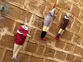 Jaffa Decorative figures on the wall November 2011 — Stock Photo