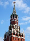 Moscow Kremlin Spasskaya Tower 2011 — Stock Photo